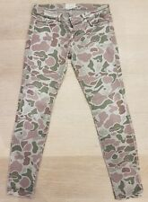 CURRENT ELLIOTT grey camo camouflage women skinny jeans pants size 27