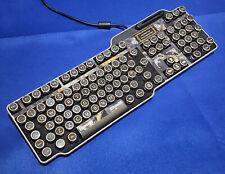 Fine Handcrafted Black Marble Effect Steampunk Keyboard