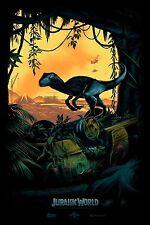 Mark Englert JURASSIC WORLD Print Poster 24x36 SDCC Exclusive Not Mondo Park