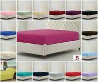 200 Thread count Plain Dyed Egyptian Cotton Fitted Bed Sheets / Pillow Case