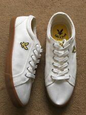 Lyle & Scott Halket Off White Men's Trainers Shoe, Size UK10, £48.