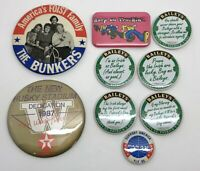 Vintage 1980's Lot Pinbacks Various Themes & Sizes; Cool Pan-Am Pin (RF1040-3)