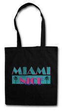 MIAMI NICE STOFFTASCHE USA Florida Sea Strand Palms Bar and Vice Holidays