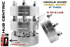 "(4) 2PC FORD F-150 CONVERSION ADAPTER 5X135 MM TO 6X135 MM WHEELS 2"" 14X2 STUDS"