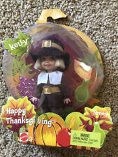 Barbie Kelly Club Happy Thanksgiving Pilgrim Tommy Doll 1994 with pumpkin