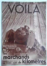 ►VOILA 286 /1936 -  LA VIE DU RAIL TRAINS - VENUS NOIRES - MARLENE DIETRICH
