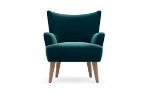 EX M&S Elliott Armchair in DARK TEAL