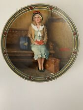 """Norman Rockwell """"A Young Girl's Dream� Plate With Coa"""