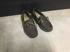 Brown Leather Mens Rockport Boat Shoes 7 1/2