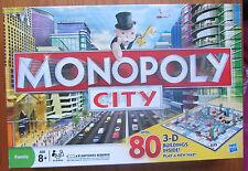 Monopoly CITY 80 3D edifici 2008 Hasbro 100% completo di lavoro quasi ottime