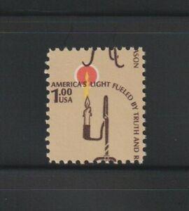 US EFO, ERROR Stamps: #1610 $1 Lamp. Color shift. MNH