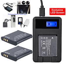 2pcs Battery USB Charger for Li-50b Olympus Sz-10 Sz-20 Stylus Tough 6020 8000