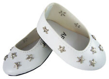 "White Star Ballet Flats Shoes made for 18"" American Girl Doll Clothes"