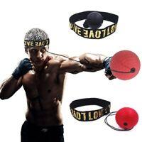 Balle de Réflexe pour Entrainement Boxe Vitesse Sport Combat Bandeau Frontal Jab