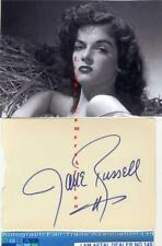More details for jane russell vintage signed card aftal#145
