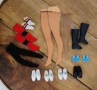 Lot: Assorted VINTAGE Barbie Socks, Shoes, Boots, Thigh High Hose, & Tights