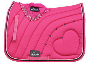 Numnah Horse Saddle Pad Cotton with Fly Veil /Jewel Double Color Rope