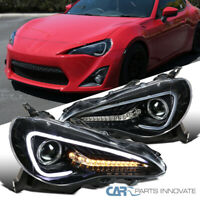 For 12-17 Scion FR-S Toyota 86 Pearl Black Projector Headlights w/ LED Signal