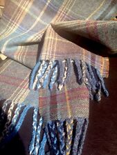 Mulberry Scarf Shawl Large Oversize Wool Country Heather Purple Grey Tweed Blue