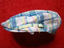 Janie & Jack Boys Pink Madras Plaid Linen Blend Newsboy Cap Hat Easter Size 4-5