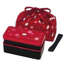 KLS5 Lunch Bento Box Double with Bag KLS5 NEW JAPANESE komon iori Red Rabbit.
