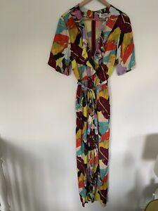 """🍁🍁🍁NEW Gorman  x Rebekah Callaghan Print """"BROAD LEAF Pantsuit Jumpsuit 12"""