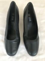 Clarks Springers Women's Navy Leather Shoes Size 6.5 (K07)