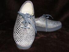 """DAMART """"DERBY"""" Argent/tissu gris Compensé Chaussure-Taille 4/37-NEUF"""