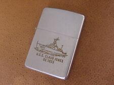 Vintage Zippo Lighter ..... USS Claud Jones .... DE 1033 ...... Vietnam Era