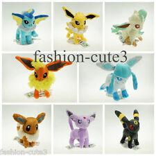 "Lot 8 Pokemon Plush Toy Doll figure Eevee Espeon Sylveon Umbreon Jolteon 6"" 15cm"