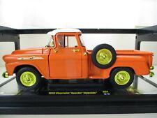 M2 MACHINES - AUTO-TRUCKS - CHASE - 1958 CHEVROLET APACHE STEPSIDE PICKUP - 1/24