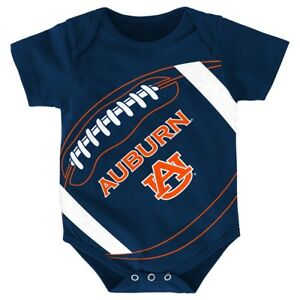 "Auburn Tigers NCAA Outerstuff Infant Navy Blue ""Fanatic"" Football Creeper"