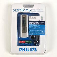 Phillips Electronics SA1100 Digital Audio Music Player Mp3 WMA  512MB 250 Songs
