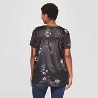 4d367b5edd5a2 Women's Floral Ruched Back Short Sleeve Shirt Ava and Liv Sizes 1X or 2X NWT