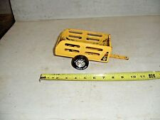 Old Vintage Nylint Metal Muscle Pressed Steel Utility Trailer Yellow WAGON