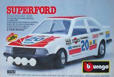 Pubblicità Advertising Werbung Italian Clipping 1986 FORD ESCORT XR3 BBURAGO