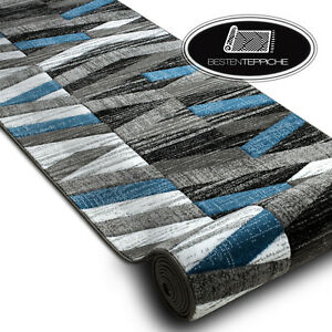 "Modern Beautiful Runner "" Alter "" Stripes Blue Width 70-120cm Original"