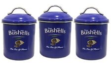 Bushells Metal BLUE COLOUR  Canister SET of 3