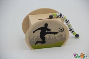 Spardose mit Namen - Fussball - 1 Spardose 2 Motive - Holzspardose