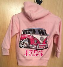 Pink JESS VW Camper Graphic Hoodie Sweatshirt.  Age 3-4 Years.  Polycotton