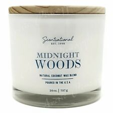 Scentsational Natural Coconut Wax 26oz Cotton 3 Wick Candle - Midnight Woods