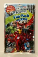Avengers Assemble Grab & Go Play Pack: Coloring Book, Crayons, & Stickers, NEW