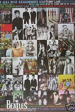 """BEATLES """"COLLAGE OF GROUP SHOTS & SONG TITLES"""" POSTER FROM ASIA"""