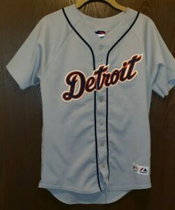 Majestic Gray Dontrelle Willis Detroit Tigers Baseball Jersey Youth L STITCHED