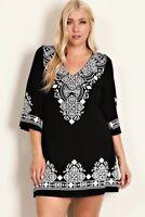 BNWT Evoke Black & White Midi Dress Plus Sizes 14/XL to 18/XXXL CURVED BY NATURE