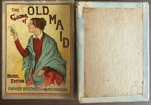 VINTAGE    THE GAME OF OLD MAID     NICKEL EDITION CARD GAME BY PARKER BROTHERS