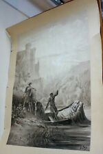 Antique engraving signed G Dore