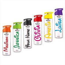 Personalised Name Sticker 10cm School Water Bottle Custom stickers Sports Drinks