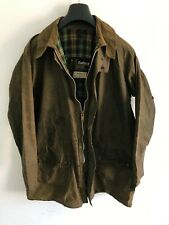 Mens Barbour Vintage Gamefair wax jacket Green coat 42in size Large  Extra Large