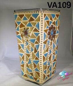 Southwest Beauty Glass Mosaic Vase,Handmade by the Artist  VA109